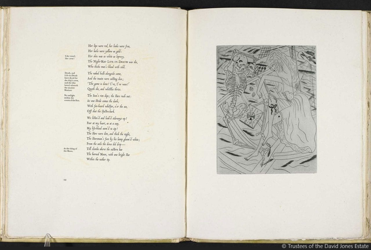 Samuel taylor coleridges the rime of the ancient marinerthe titlethe ancient mariner illustrations by david jones authorcreatorsamuel taylor coleridge david jones held bybritish library shelfmarkc100k20 biocorpaavc Images