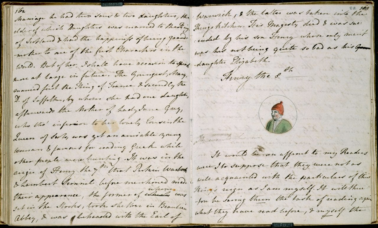 TitleThe History Of England Austen Juvenilia Author CreatorJane Held ByBritish Library ShelfmarkAdd MS 59874 CopyrightPublic Domain