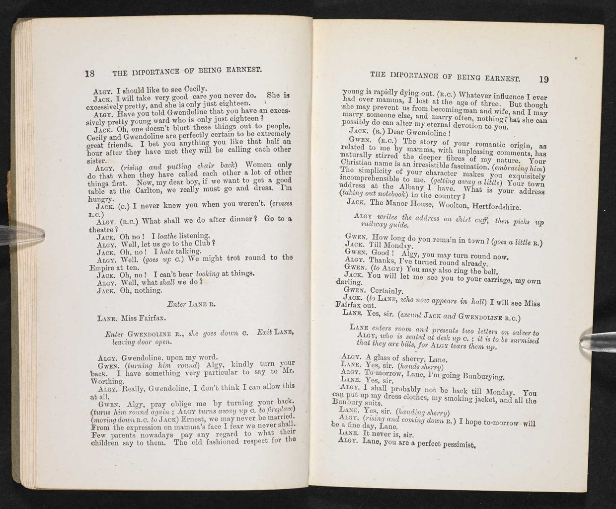 Oscar wildes the importance of being earnest the british library titleacting edition of the importance of being earnest estimated 1893 95 authorcreatoroscar wilde held bybritish library shelfmarkeccles 120 nvjuhfo Images